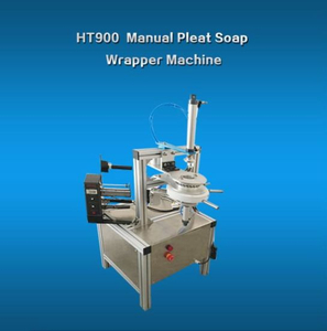 Manual Blue Bubble Pleat Wrapping Machine/Blue Toilet Cleaner Block Wrapping Machine