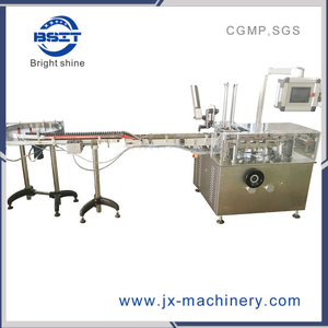 Bsmz-125 High Quality Hot Sale Round Bottle Box Cartoning Packing Machine