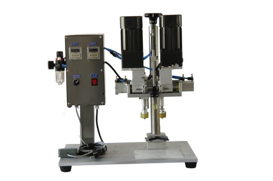 Semi-Auto Cream Bottle Clip Rotary Capping Machine