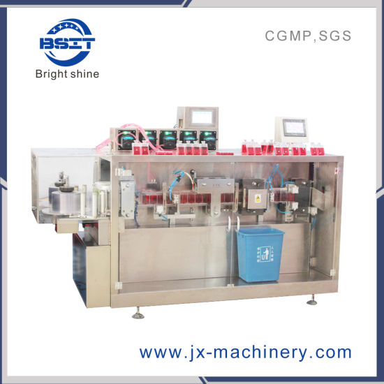 Pharmaceutical Machinery Plastic Ampoule Liquid Filling Sealing Machine (cGMP Standards)